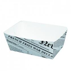 Barquette en carton blanc imp. Journal petit modèle