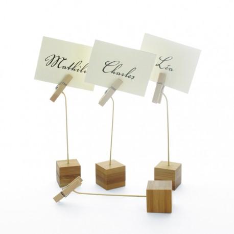 Porte étiquette socle bambou