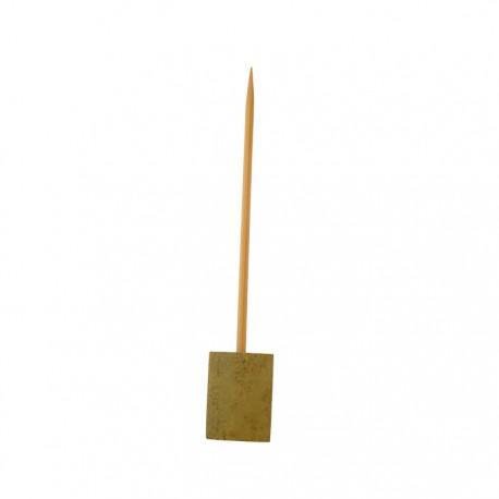 Pique sur socle bambou 150mm