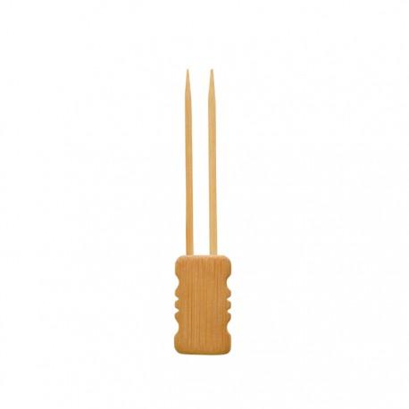 Double pique en bambou 150 mm