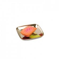 Mini assiette argent carrée