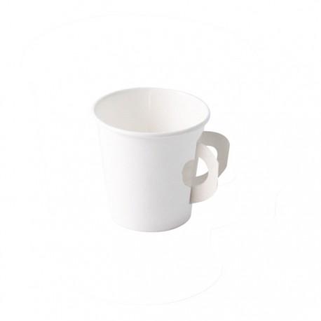 Gobelet carton blanc avec hanse 120ml