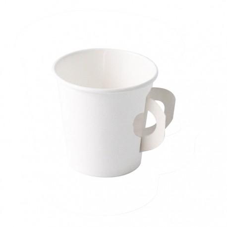 Gobelet carton blanc avec hanse 180ml
