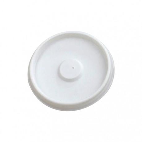Couvercle plat blanc