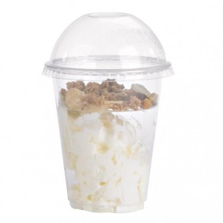 Gobelet ou coupe dessert PET transparent 240ml