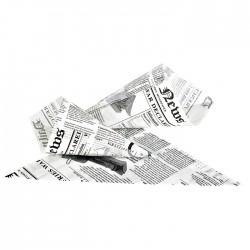 Cône en papier blanc imp. Journal grand modèle