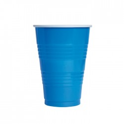 "Gobelet bleu ""pong"""
