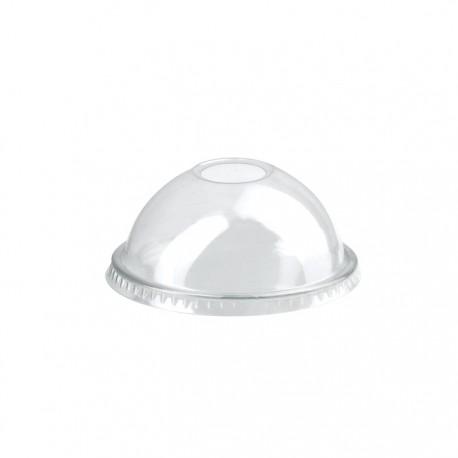 Couvercle dôme PET avec trou 74mm de diamètre