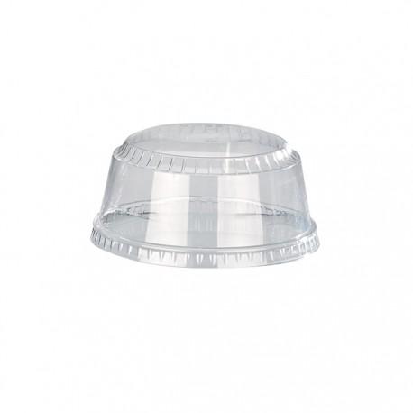 Couvercle dôme PET avec trou 98mm de diamètre