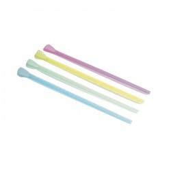 Chalumeaux cuillère colorés