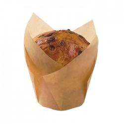 Caissette de cuisson silicone maron forme tulipe 90ml