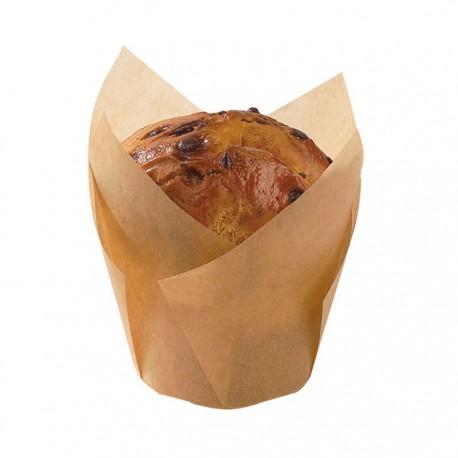 Caissette de cuisson silicone marron forme tulipe 150ml