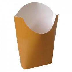 Pochette à frite imp. Kraft marron petit modèle