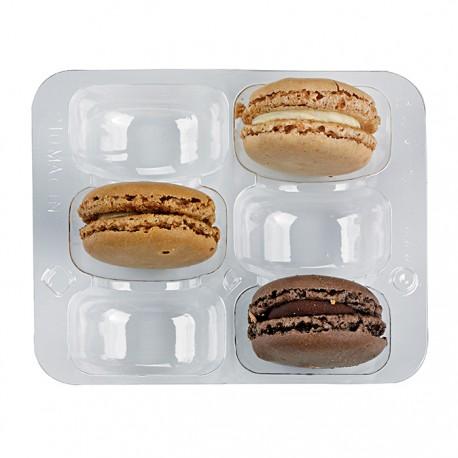 Inset PET pour 6 macarons