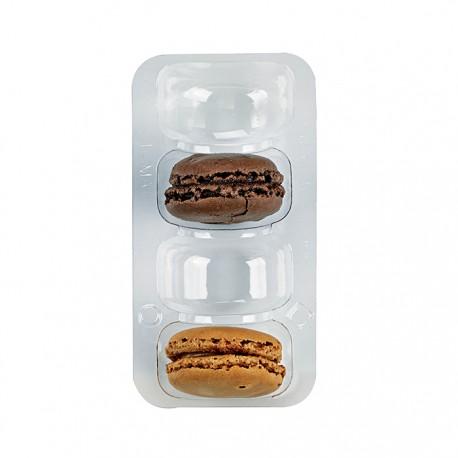 Inset PET pour 4 macarons