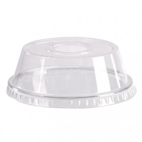 Couvercle dôme PET avec trou 95mm de diamètre