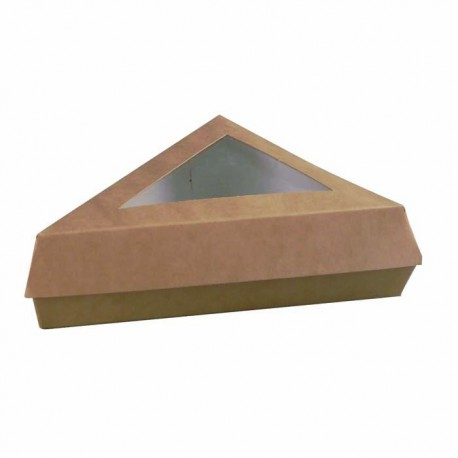Boite pâtissière triangulaire kraft brun