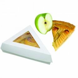 Boite pâtissière triangulaire blanche