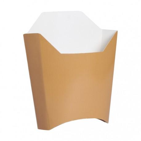 Pochette à frite imp. Kraft marron grand modèle