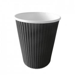 Gobelet carton noir ondule 450ml