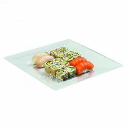 Assiette carrée transparente 270x270mm
