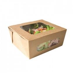 Boîte salade double fenêtres 33Oz/ 1000 ml