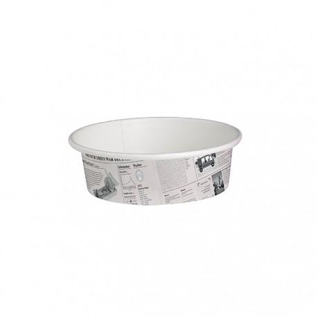 Pot en carton avec impression journal américain 12 Oz / 360 ml