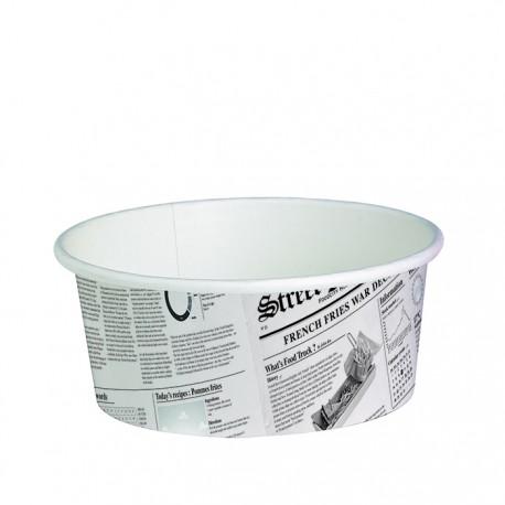 Pot en carton avec impression journal américain 16 Oz / 480 ml