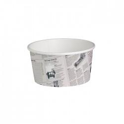 Pot en carton avec impression journal américain 20 Oz / 600 ml