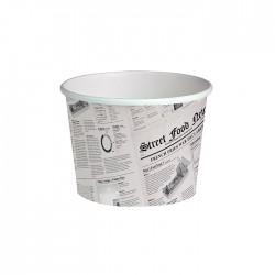 Pot en carton avec impression journal américain 24 Oz / 720 ml