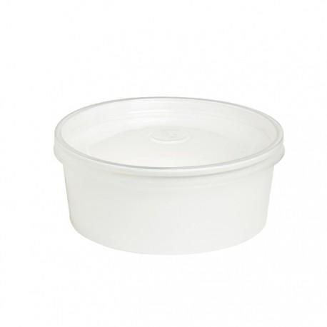 Saladier rond en carton blanc 580 ml