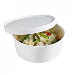 Saladier rond en carton blanc 1000 ml