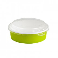 Saladier rond en carton vert 580 ml
