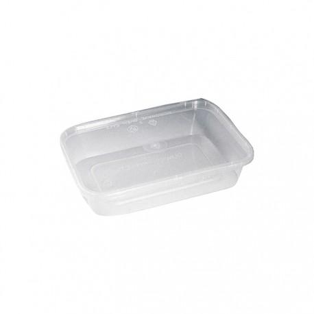 Barquette rectangulaire avec couvercle plastique recyclable 750 ml