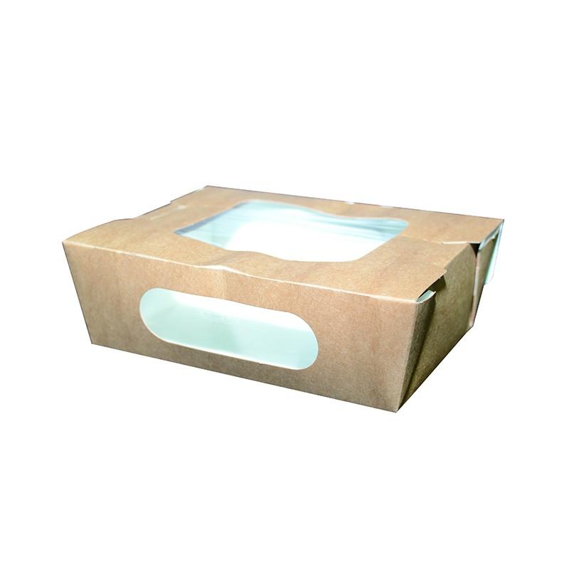 boite en carton kraft double fen tre avec couvercle. Black Bedroom Furniture Sets. Home Design Ideas
