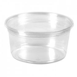 Pot rond en PET brillant transparent 450 ml