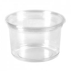 Pot rond en PET brillant transparent 700 ml