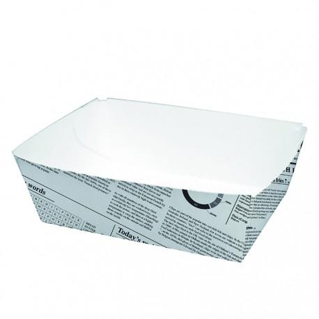 Barquette en carton blanc imp. Journal moyen modèle