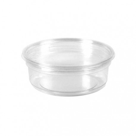 Pot rond en PLA 350 ml / biodégradable / compostable