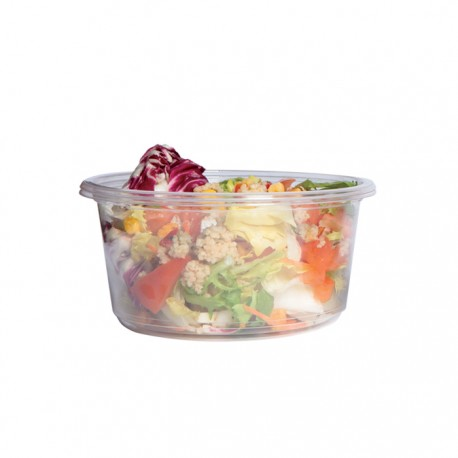 Pot rond en PLA 600 ml / biodégradable / compostable
