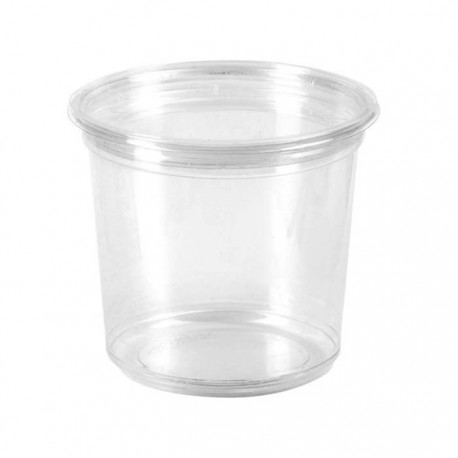 Pot rond en PLA 750 ml / biodégradable / compostable