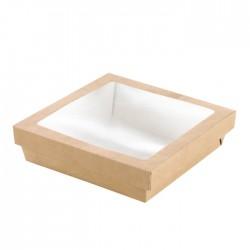 Boîte en carton brun avec fenêtre 1300 ml