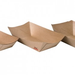 Barquette en carton kraft 800 ml