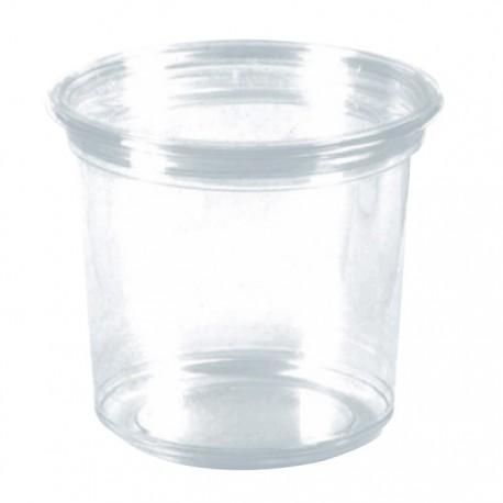 Pot rond en PET brillant transparent 800 ml