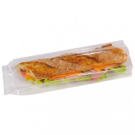 Sac à sandwich transparent avec souflets recyclable