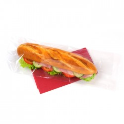 Sac à sandwich transparent plat, recyclable, micro-ondable