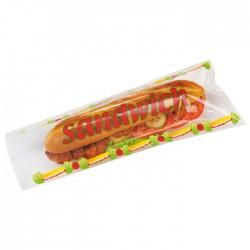 Sac à sandwich transparent plat, recyclable, micro-ondable avec motifs