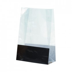 Sac bloomer en PP recyclable transparent moyen
