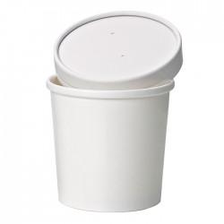 Pot à soupe en carton blanc 470 ml / 16 Oz