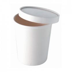 Pot à soupe en carton blanc 650 ml / 24 Oz